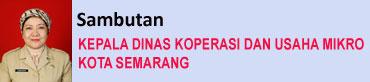 Sambutan Kepala Dinas Koperasi dan UMKM Kota Semarang